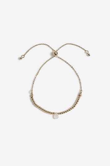 Topshop *healing Rose Quartz Stone Bracelet