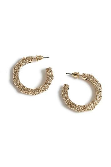 Topshop Textured Thick Hoop Earrings