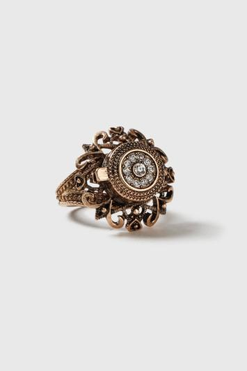 Topshop Filigree Locket Ring