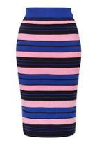 Topshop Hyper Colour Stripe Skirt