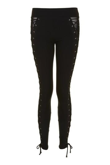 Topshop Petite Lace Up Leggings