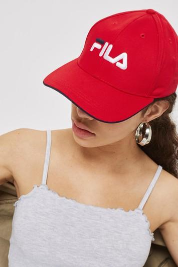 Topshop Red Humphrey Cap By Fila