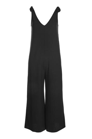 Topshop *tie Shoulder Rib Culotte Jumpsuit By Nobody's Child