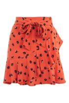Topshop Petite Floral Mini Skirt