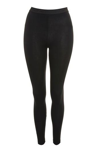 Topshop Embossed Logo Elastic Leggings