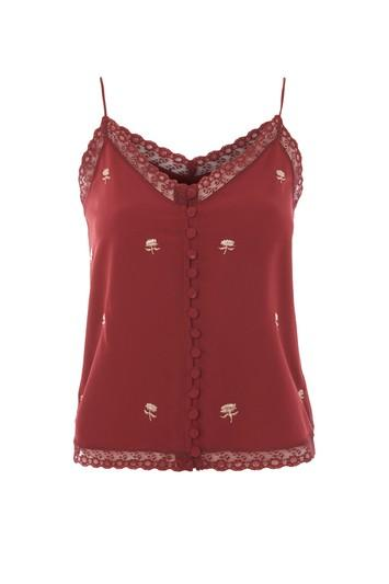Topshop Embroidered Lace Camisole Top