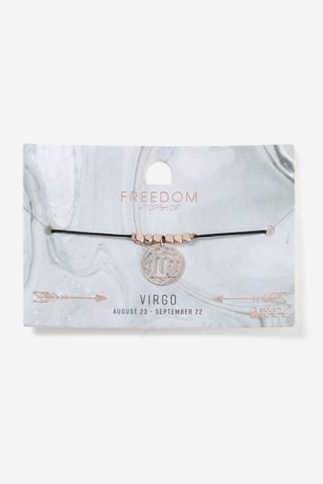 Topshop Virgo Horoscope Fili Disc Bracelet