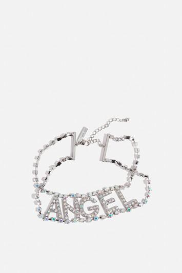 Topshop *'angel' Choker Necklace By Skinny Dip