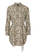 Topshop Floral Printed Shirtdress