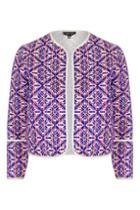 Topshop Jacquard Embroidered Jacket