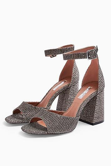 Topshop Sadie Glitter Block Heels