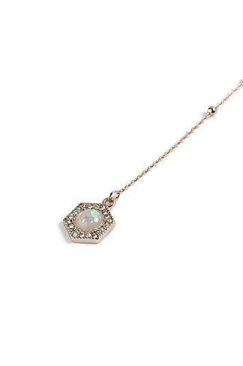 Topshop *drop Opal Stone Choker Necklace