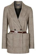 Topshop Belted Check Suit Jacket