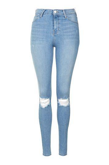 Topshop Moto Bleach Rip Jamie Jeans