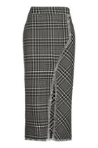 Topshop Cutabout Check Midi Skirt