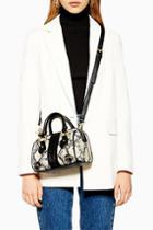 Topshop Crocodile Mini Bowler Bag
