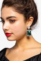 Topshop Crystal Square Drop Earrings