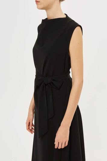 Topshop Crepe Godet Dress By Boutique