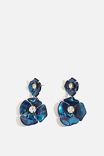 Skinny Dip Blue Azalea Earrings By Skinnydip