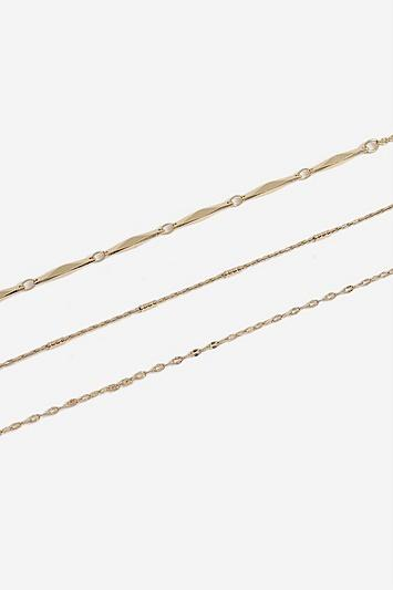 Topshop *three Chain Anklet