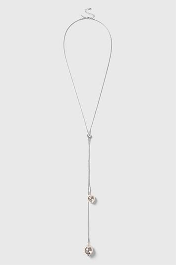 Topshop Clean Ball Lariat Necklace