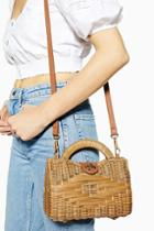 Topshop Saffi Wicker Straw Grab Bag