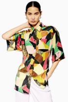 Topshop *silk Patchwork Shirt By Boutique