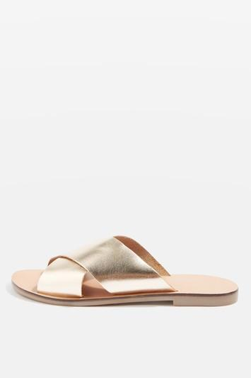 Topshop Holiday Cross Strap Mule Shoes