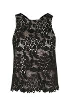 Topshop Animal Lace Back Top