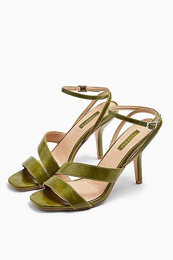 Topshop Nero Mid Heel Sandals
