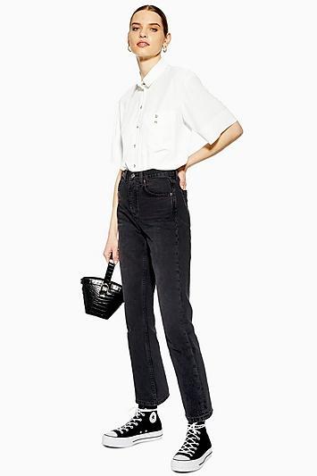 Topshop Washed Black Editor Jeans