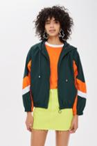 Topshop Green Windbreaker Jacket