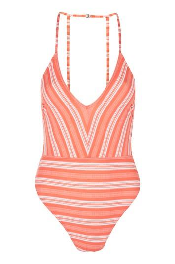 Topshop *plunge Swimsuit By Mink Pink