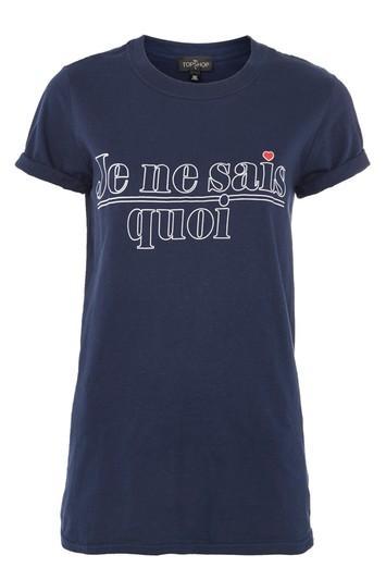 Topshop Tall 'je Ne Sais Quoi' Slogan T-shirt