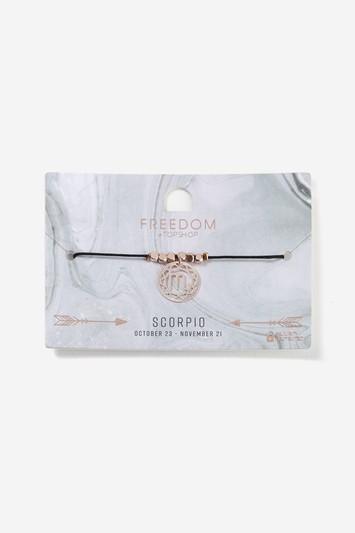Topshop Scorpio Horoscope Fili Disc Bracelet