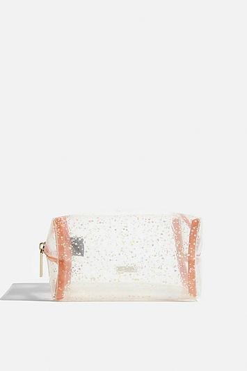 Skinny Dip *peach Glitz Makeup Bag By Skinnydip
