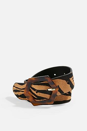 Topshop Tiger Tortoiseshell Buckle Belt