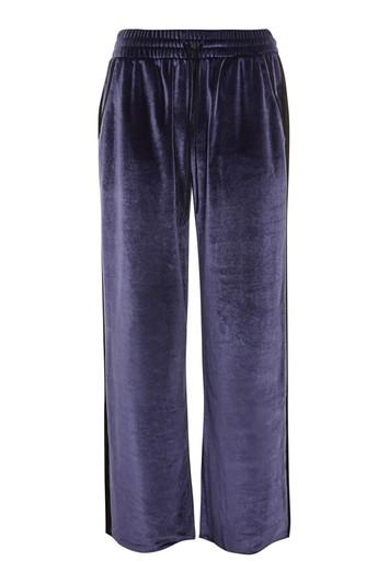 Topshop Velvet And Lace Trousers