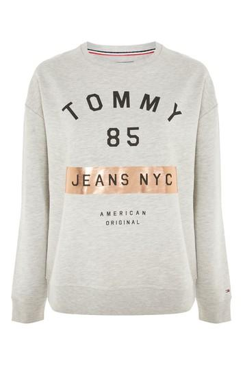 Topshop Graphic Sweatshirt By Tommy Jeans