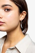 Topshop Horn Drop Hoop Earrings