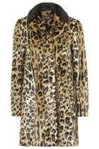 Topshop Faux Fur Animal Print Swing Coat