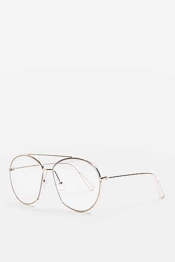 Topshop Archie Cut Reader Sunglasses
