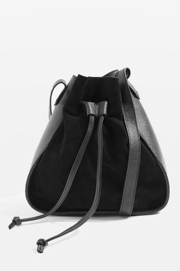 Topshop Zena Leather Mini Bucket Bag