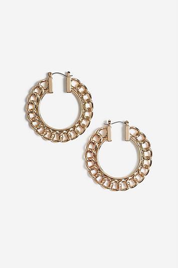 Topshop Chain Hoop Earrings