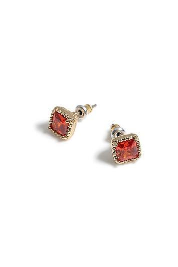 Topshop Square Stone Stud Earrings
