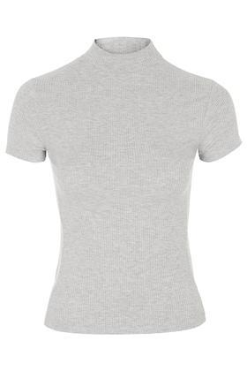 Topshop Ribbed Funnel Neck Top By Topshop Reclaim