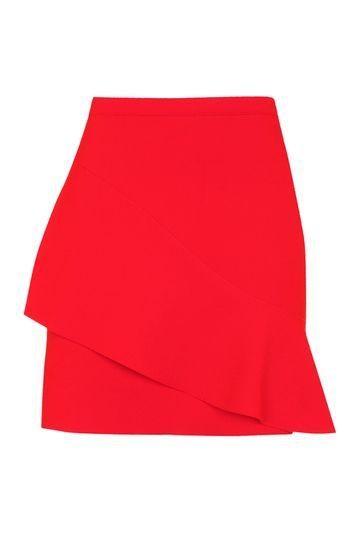 Topshop Wave Front Mini Skirt