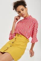 Topshop *petite Button Through Skirt