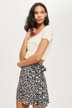 Topshop Leopard Print Flippy Mini Skirt
