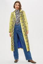 Topshop Snake Print Coat